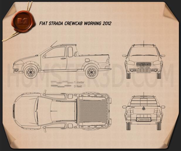 Fiat Strada Crew Cab Working 2012 Blueprint
