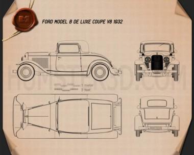 Ford Model B De Luxe Coupe V8 1932 Blueprint