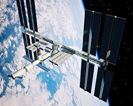 3D model of International Space Station