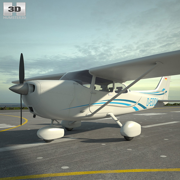 3D model of Cessna 172 Skyhawk