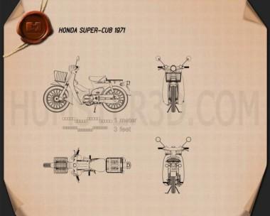 Honda Super-Cub 1971 Blueprint