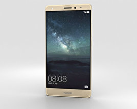 3D model of Huawei Mate S Luxurious Gold