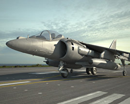 3D model of McDonnell Douglas AV-8B Harrier II