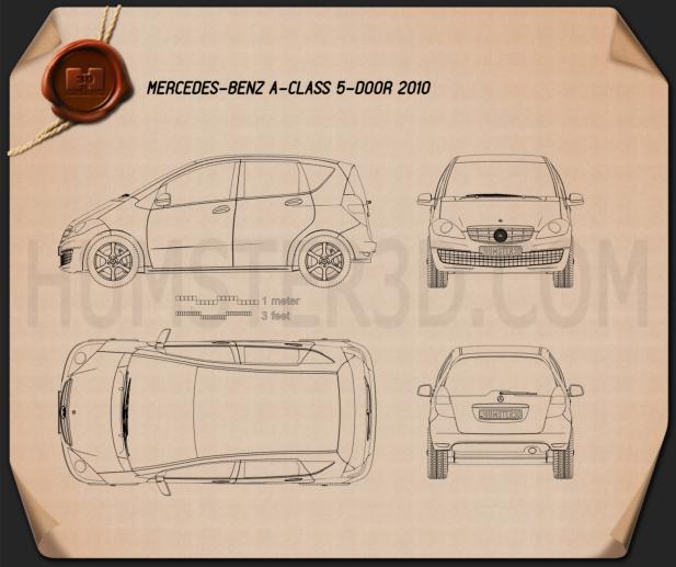 Mercedes-Benz A-Class W169 5-door Blueprint