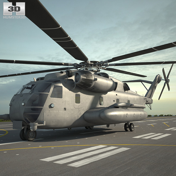 3D model of Sikorsky CH-53E Super Stallion