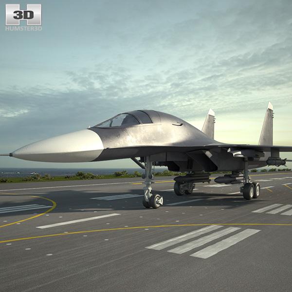 3D model of Sukhoi Su-34