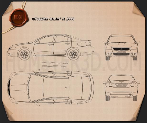Mitsubishi Galant IX 2012 Plan