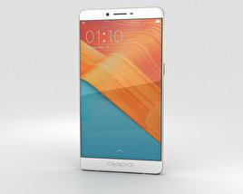 3D model of Oppo R7 Plus Golden