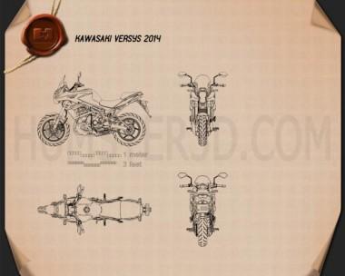 Kawasaki Versys 2014 Blueprint