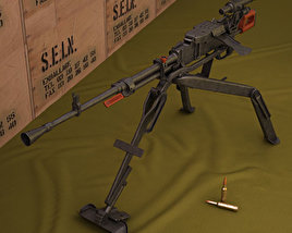 3D model of NSV machine gun