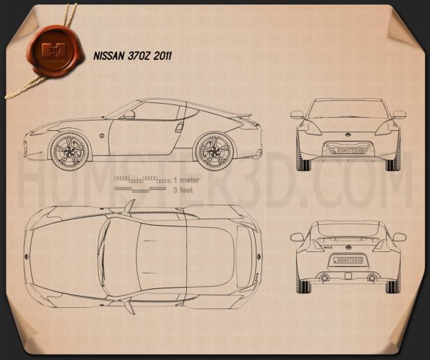Nissan 370Z Coupe 2009 Blueprint