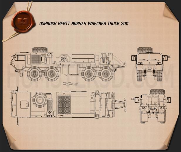 Oshkosh HEMTT M984A4 Wrecker Truck 2011 Plan