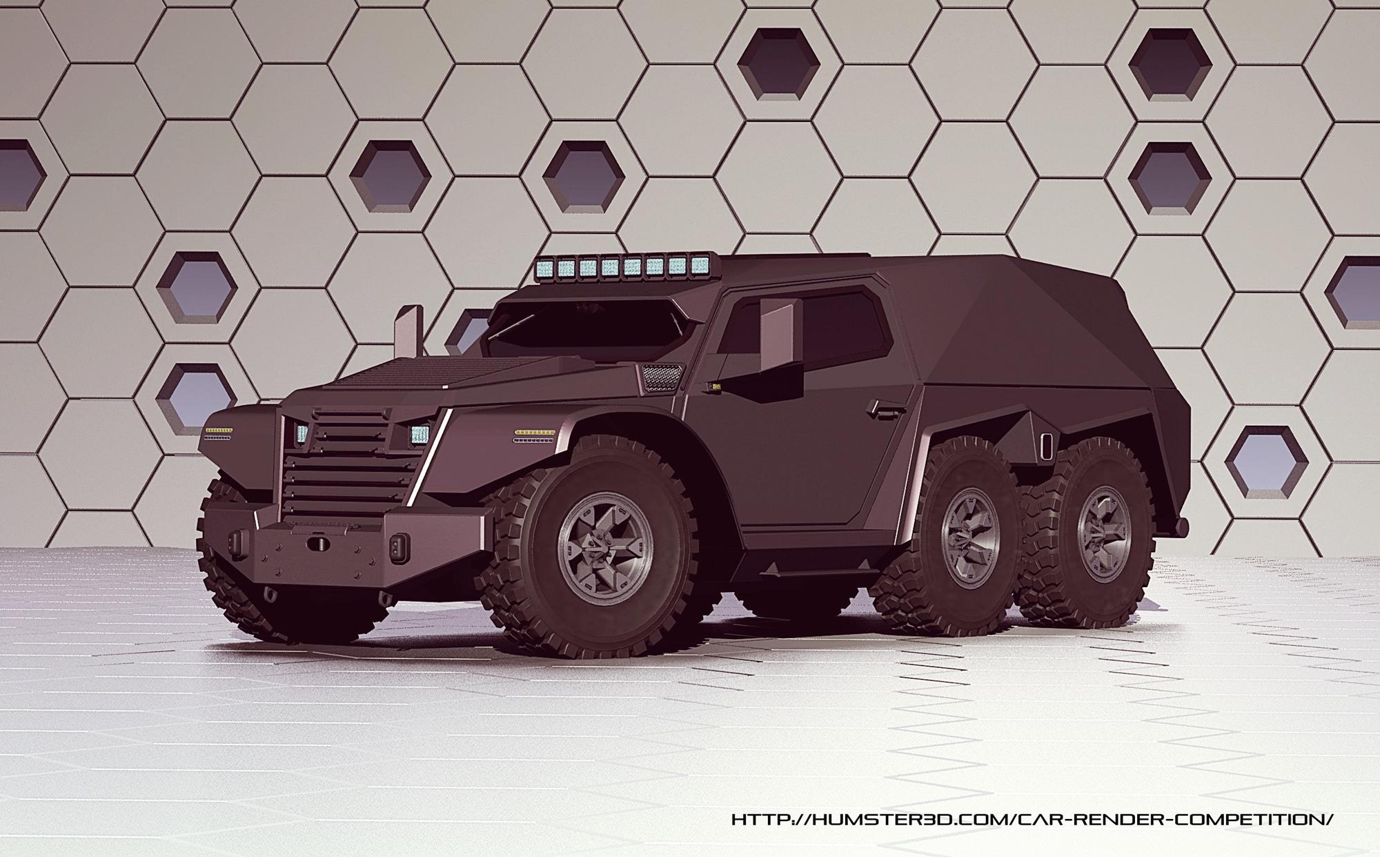 Luxury Armored Vehicle 3d art