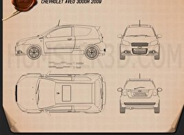 Chevrolet Aveo 3door 2009 Blueprint