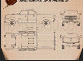 Chevrolet Silverado Crew Cab Standard Bed Blueprint