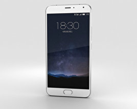 3D model of Meizu PRO 5 Silver/White