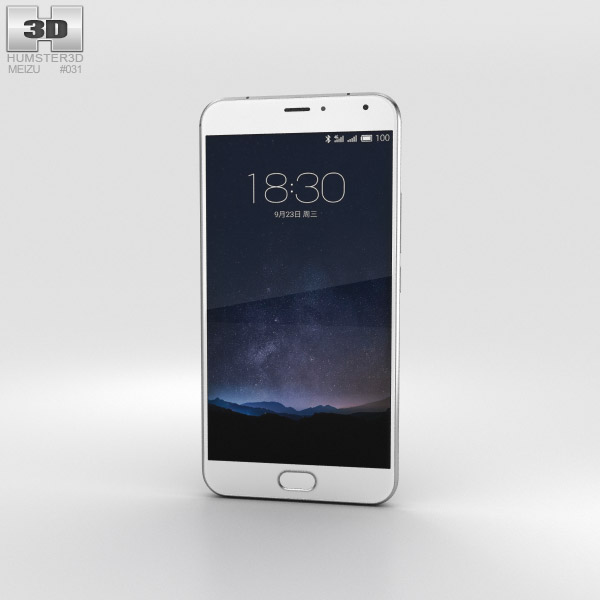 Meizu PRO 5 Silver/White 3D model
