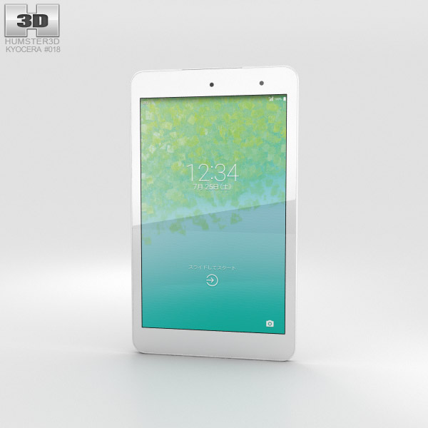 Kyocera Qua Tab 01 White 3D model
