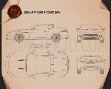 Jaguar F-Type R coupe 2014 Blueprint