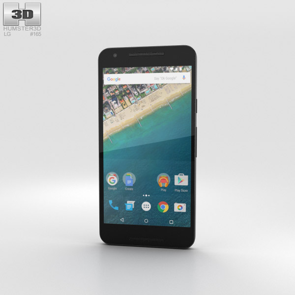LG Nexus 5X Ice 3D model