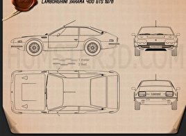 Lamborghini Jarama 400 GTS 1976 Blueprint