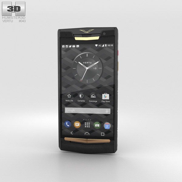 Vertu Signature Touch (2015) Pure Jet Red Gold 3D model