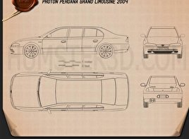 Proton Perdana Grand Limousine 2004 Blueprint