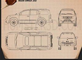 Nissan Armada 2012 Blueprint