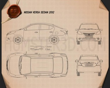 Nissan Versa (Tiida) sedan 2012 Blueprint