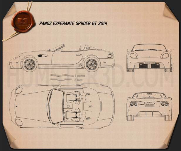 Panoz Esperante Spyder GT 2015 Blueprint