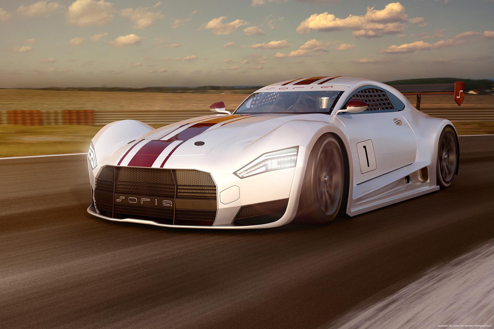 Soria - The concept car 3d art