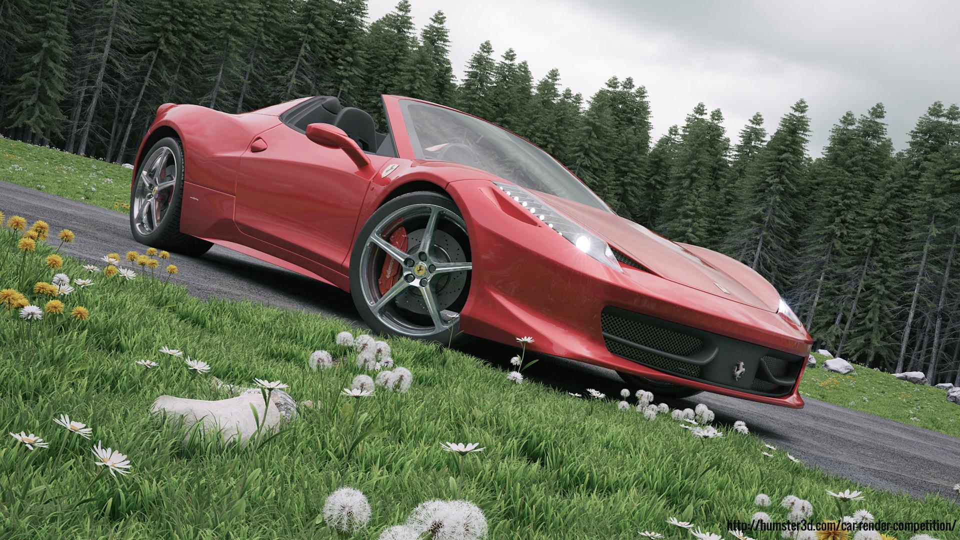 458 Italia 3d art