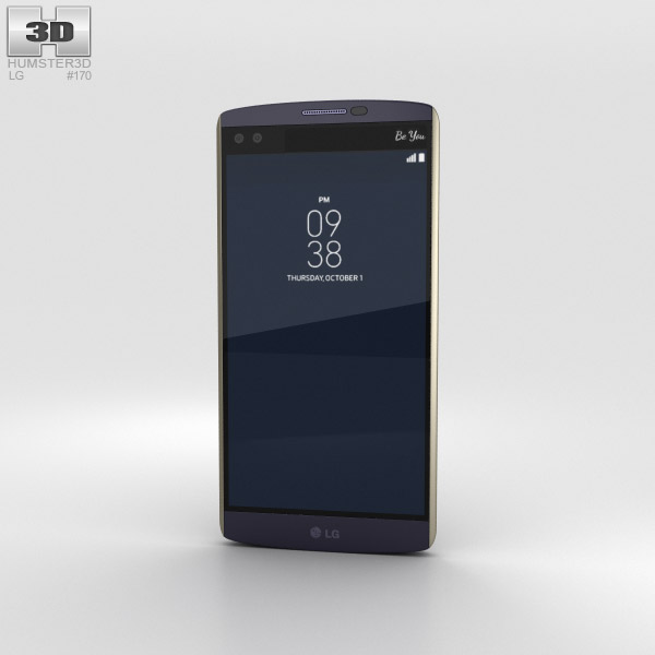 LG V10 Ocean Blue 3Dモデル