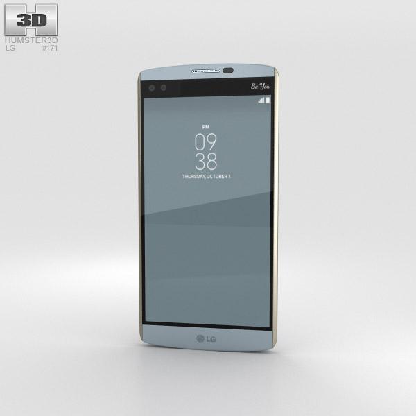 LG V10 Opal Blue 3Dモデル