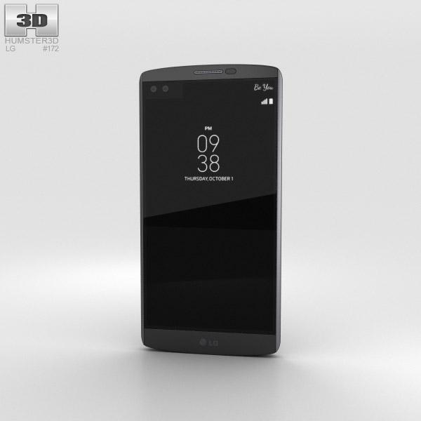 LG V10 Space Black 3Dモデル