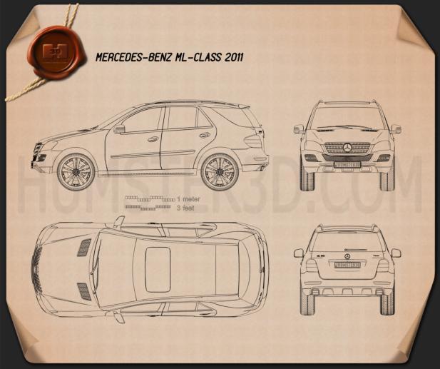 Mercedes-Benz ML-class 2011 Blueprint