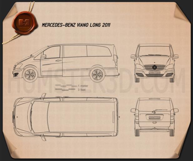 Mercedes-Benz Viano Long 2011 Blueprint