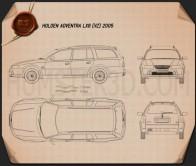 Holden Adventra LX6 (VZ) 2005 Blueprint