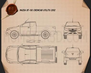 Mazda BT-50 Crew Cab 2012 Blueprint