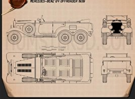 Mercedes-Benz G4 Offroader 1939 Blueprint