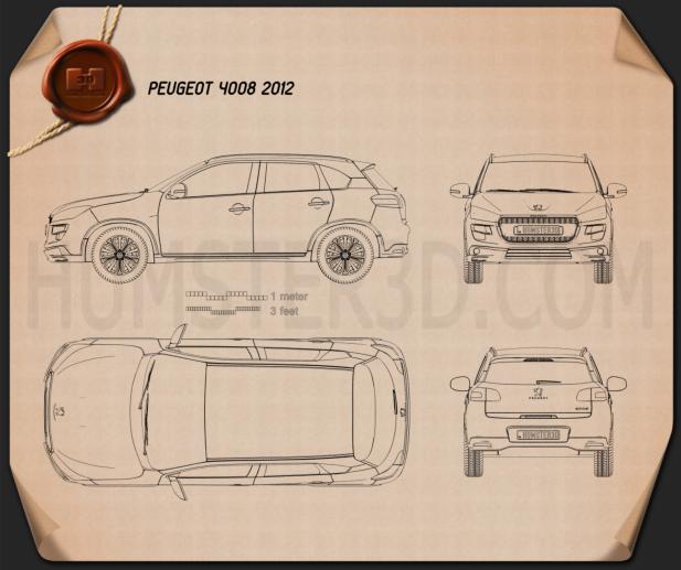 Peugeot 4008 2012 Blueprint