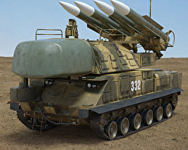 3D model of Buk M1 missile system