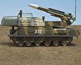 Buk M1 missile system 3d model