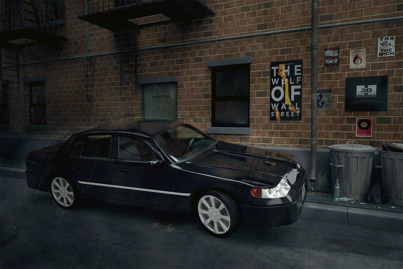 Lincoln town car 3d art