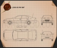 Lexus GS (S140) 1996 Blueprint
