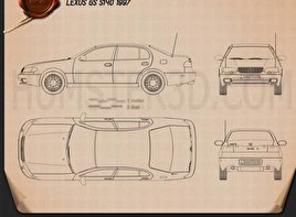 Lexus GS (S140) 1996 Blueprint