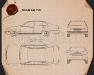 Lexus GS (S160) 2004 Blueprint 3d model