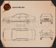Lexus GS (S160) 2004 Blueprint