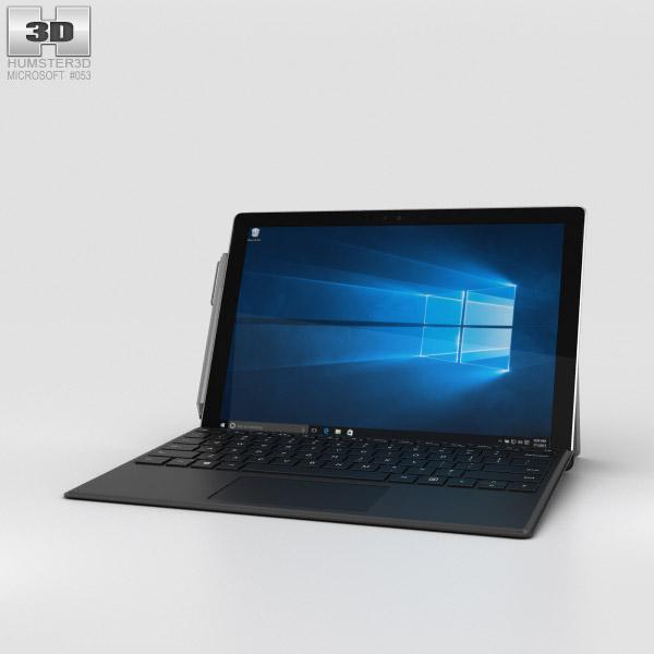 Microsoft Surface Pro 4 Black 3D model