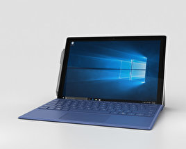 Microsoft Surface Pro 4 Blue 3D model